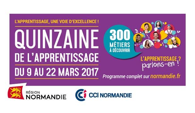 La Région lance la 1ère édition de la « Quinzaine normande de l'apprentissage » du 9 au 22 mars 2017 !