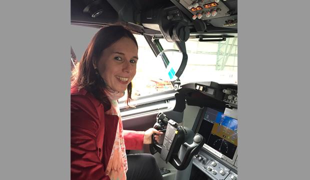 Agathe Derome, directrice de l'aéroport Rouen Vallée de Seine