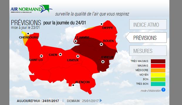 Pollution : Vitesse réduite de 20 km/h en Normandie !