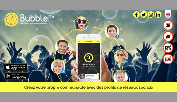Bubble me… Une application normande de réseautage de proximité