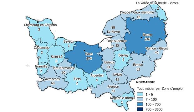 Transport et logistique en Normandie : 961 postes identifiés
