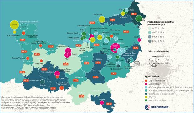 L'économie normande en chiffres et en cartes