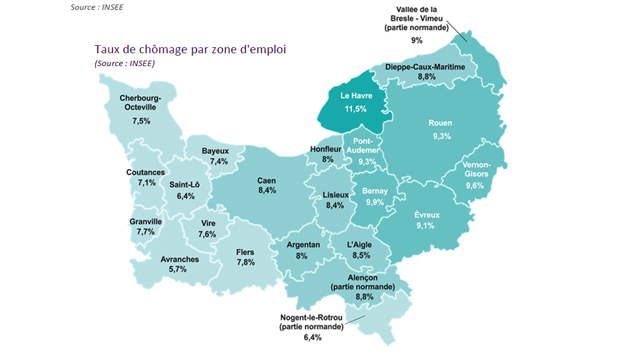 Chômage : résultats en demi-teinte en Normandie