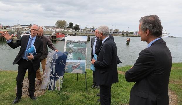 Sur le port de Caen-Ouistreham, Région, Département et CCI investissent 12 M€