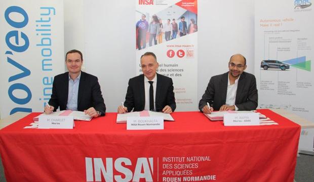11 start-up et PME s'allient avec l'INSA pour créer  la chaire pédagogique d'excellence « Véhicule Autonome & Connecté »