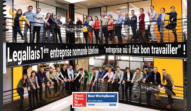 """Legallais (14), 1ère entreprise Normande à intégrer le classement """"Great Place To Work"""""""