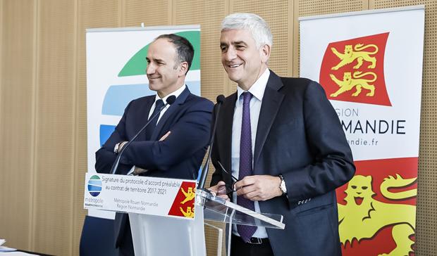 La Métropole Rouen Normandie et la Région signent un protocole d'accord préalable au contrat de territoire 2014-2021