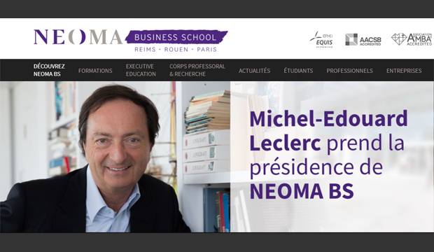 Michel-Edouard Leclerc président de NEOMA Business School (Rouen-Reims-Paris)