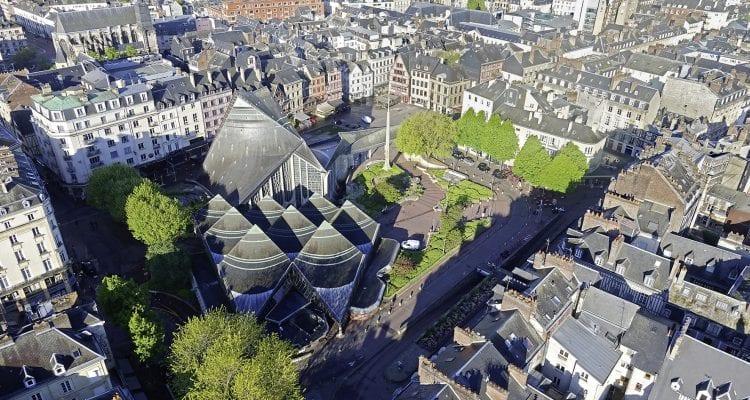 Rouen vue par drone