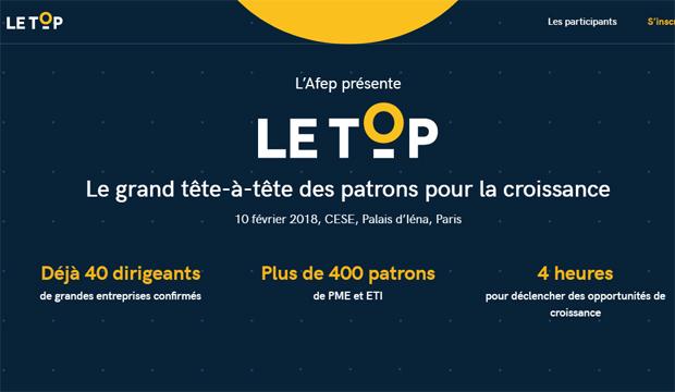 L'Afep lance le TOP, le grand tête-à-tête des patrons pour la croissance