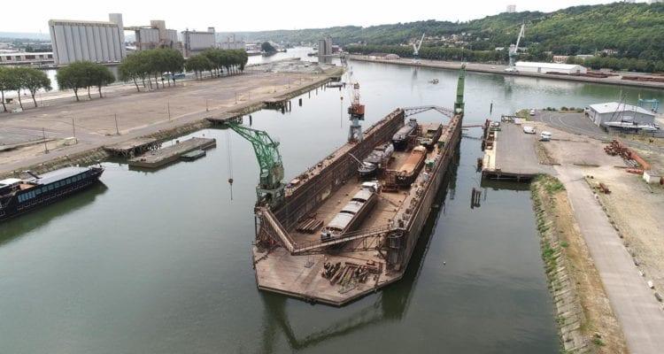 Le dock du bassin Saint-Gervais