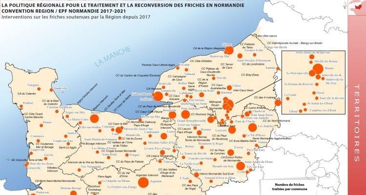 L Effort Conjugue De La Region Normandie Et De L Epf Normandie A Permis De Lancer La Rehabilitation De Pres De 200 Friches En 18 Mois Normandinamik