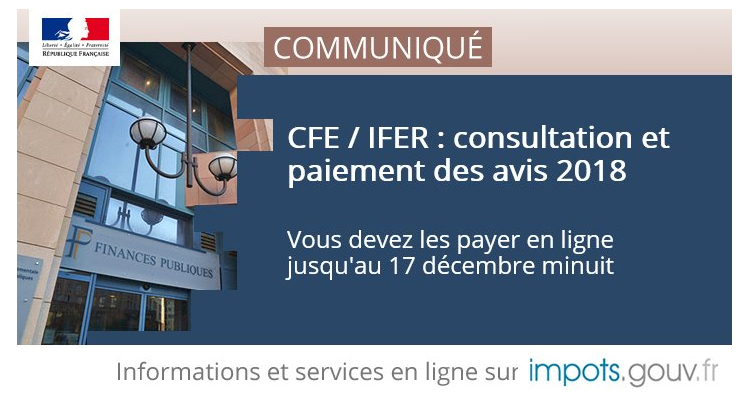 Cfe Et Ou Ifer 2018 Date Limite De Paiement Le 17 Decembre Minuit
