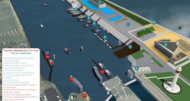 Lancement du chantier d'aménagement de l'avant-port de Ouistreham