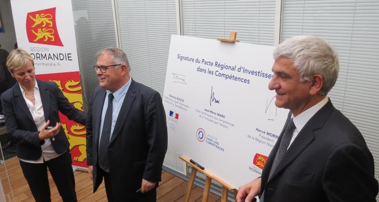 Signature du Pacte Régional d'Investissement dans les Compétences en Normandie