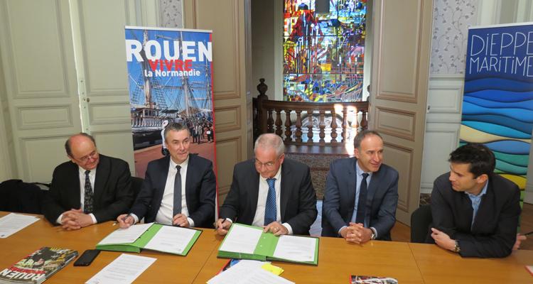 Alliance en matière de rayonnement économique entre Rouen Normandy Invest et Dieppe Maritime