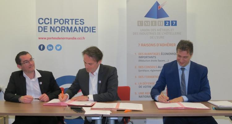 La CCI Portes de Normandie et l'UMIH 27 renforcent leurs partenariats
