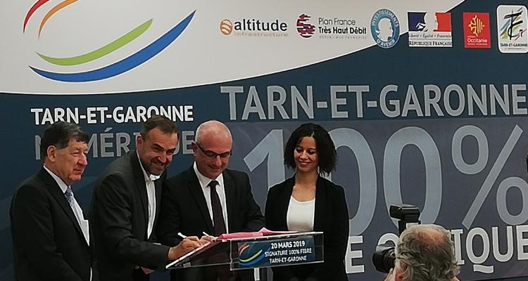 Altitude Infrastructure retenu dans le Tarn-et-Garonne pour undépartement 100% fibre optique en 2022
