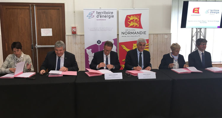 La Région Normandie et le Territoire d'Energie Normandie coordonnent leurs actions en faveur de la transition énergétique