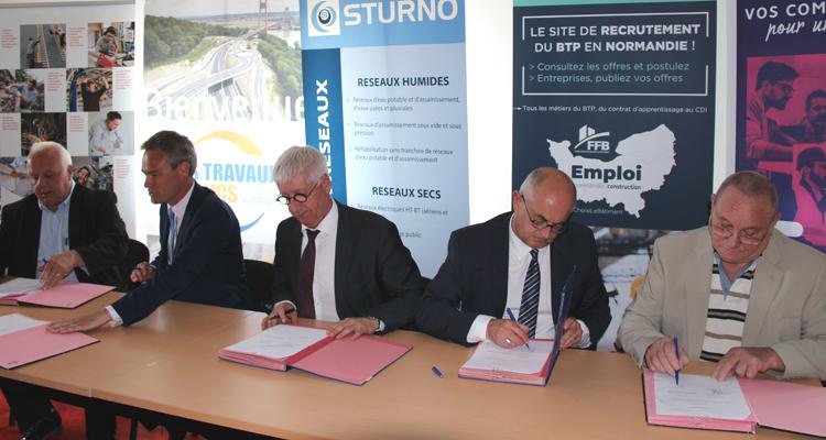La Région signe un accord de partenariat avec les branches professionnelles du BTP