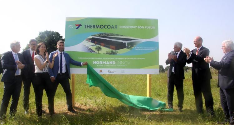 Arrivée de Thermocoax sur le site de NORMAND'INNOV à Caligny
