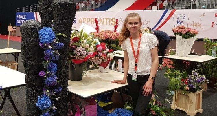 La fleuriste en herbe, Annabelle Chauvry décroche la Médaille d'Or au concours national du Meilleur Apprenti de France