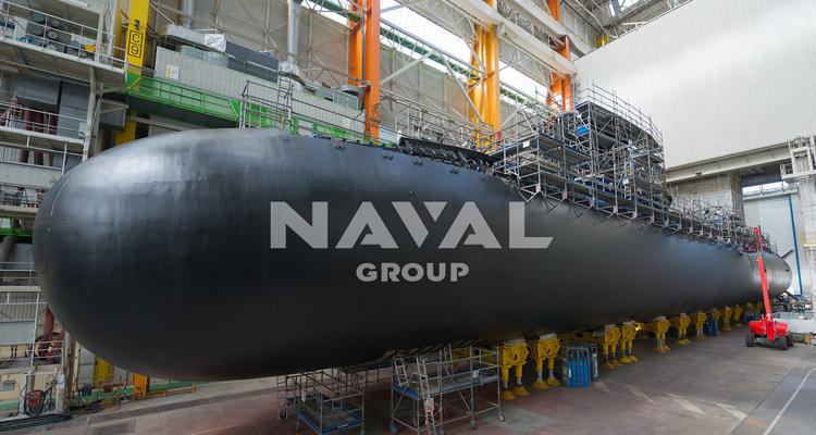 Lancement du Suffren, premier sous-marin nucléaire d'attaque de la série Barracuda à Cherbourg