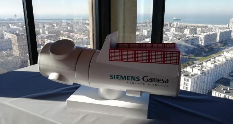 Accord sur le plan de financement des aménagements portuaires du Havre destinés à l'usine de pales et de nacelles d'éoliennes en mer Siemens-Gamesa.