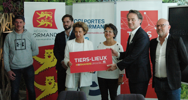 Tiers-lieux : l'espace co-working de la CCI Portes de Normandie labellisé