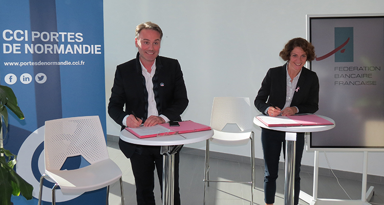La CCI Portes de Normandie signe une convention avec la FBF