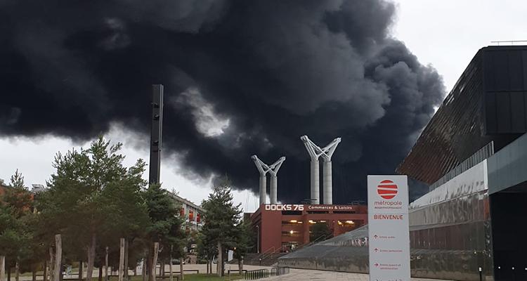 Incendie Lubrizol : dispositifs mis en place pour le soutien aux entreprises impactées