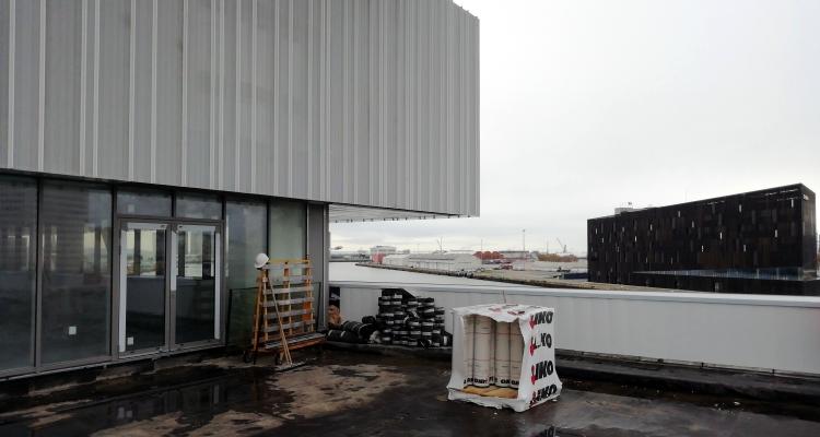 Le Havre : visite de chantier pour les prochains locaux de l'EM Normandie où la CCI investit 10 M€