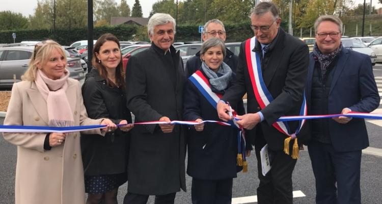 Eure : inauguration du Pôle multimodal aux abords de la gare de Bueil