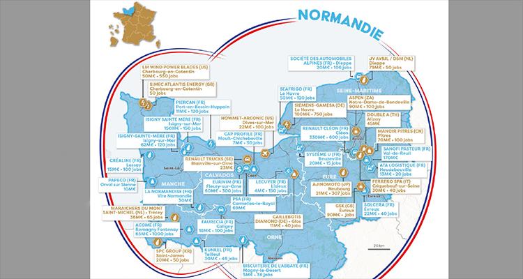 Les projets d'investissements étrangers en Normandie
