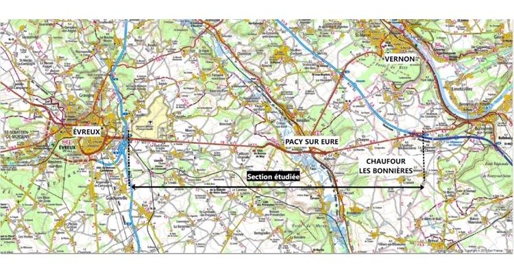 La Région Normandie relance l'aménagement à 2×2 voies du tronçon de la RN 13 entre Evreux (27) et Chaufour-lès-Bonnières (78)
