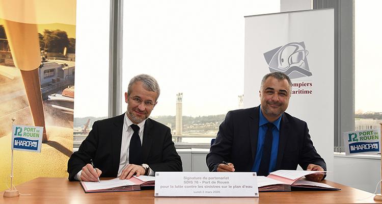 Rouen : une convention pour renforcer la sécurité portuaire
