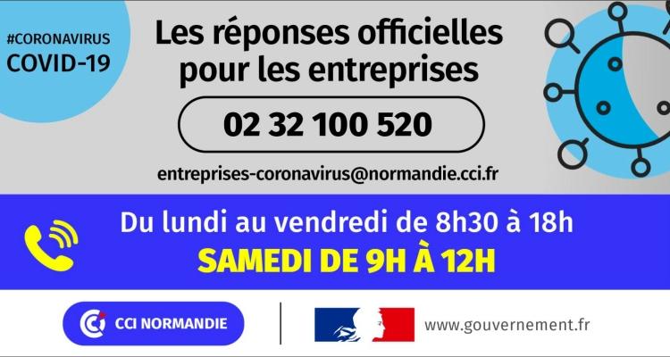 COVID-19 : la cellule opérationnelle des CCI de Normandie ouverte samedi 4 avril 2020