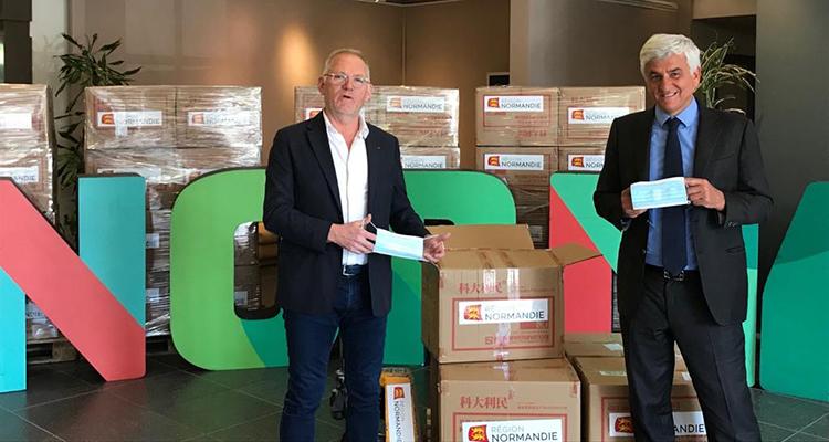 Masques dans les entreprises : le réseau des CCI de Normandie et des CRMA aux côtés de la Région !