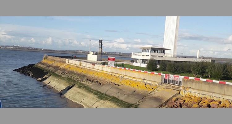 Port départemental de Honfleur : reprise de chantier