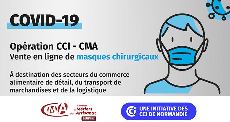 Les réseaux CCI et CMA de Normandie s'associent à Cdiscount pour mettre en vente des masques chirurgicaux