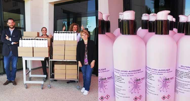 Accompagnée par la CCI Portes de Normandie, IDD-Xpert a finalement pu produire et distribuer 5 000 flacons de gel hydroalcoolique