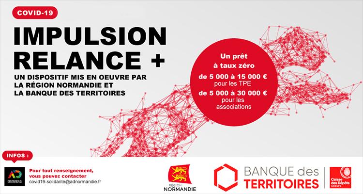 Normandie : un nouveau dispositif de prêt à taux zéro pour les TPE et associations : Impulsion Relance +