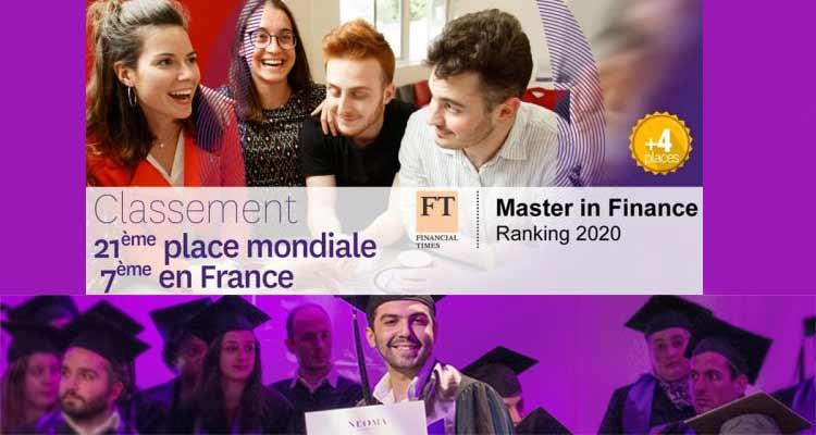 NEOMA au 21e rang du classement 2020 des Masters en Finance du Financial Times