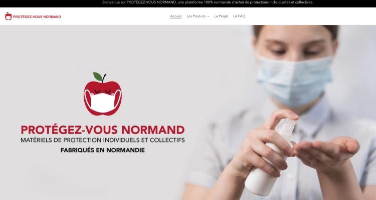 Protégez-vous normand ! Une plateforme 100% normande dédiée aux achats de protections individuelles et collectives.