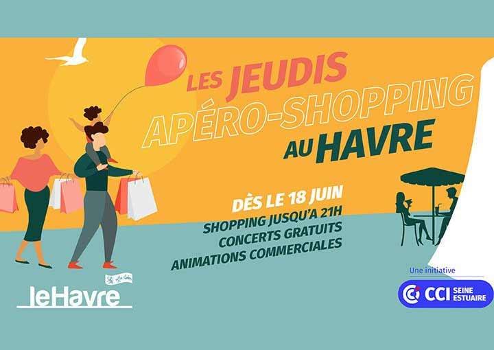Le jeudi au Havre c'est apéro-shopping #consommerlocal