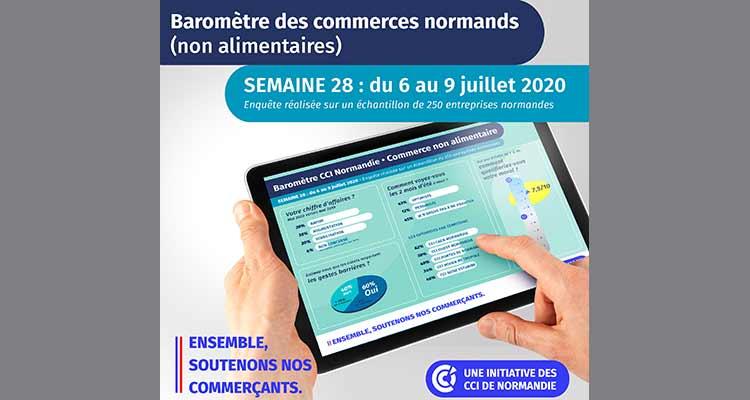 COVID-19 : Nouveau baromètre de situation pour le commerce non alimentaire des CCI de Normandie – 4ème semaine d'enquête – Point de situation semaine du 6 au 9 juillet