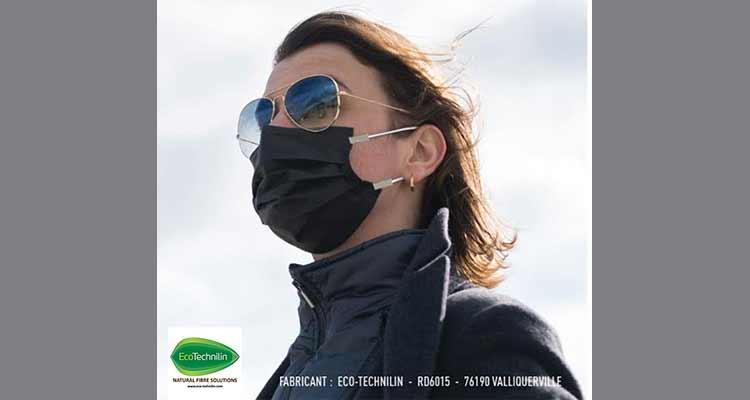 En plein confinement Eco Technilin développe avec l'appui de la CCI Rouen Métropole des masques innovants