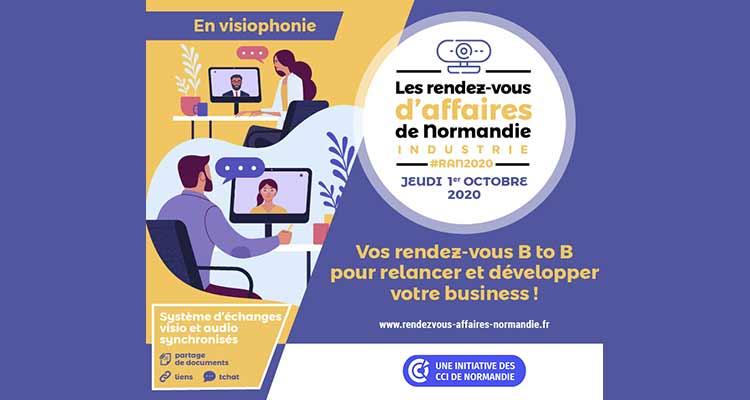Les Rendez-vous d'Affaires de Normandie Industrie, en visiophonie