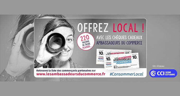 La CCI Seine Estuaire se mobilise pour le consommer local avec les chèques cadeaux Ambassadeurs du Commerce
