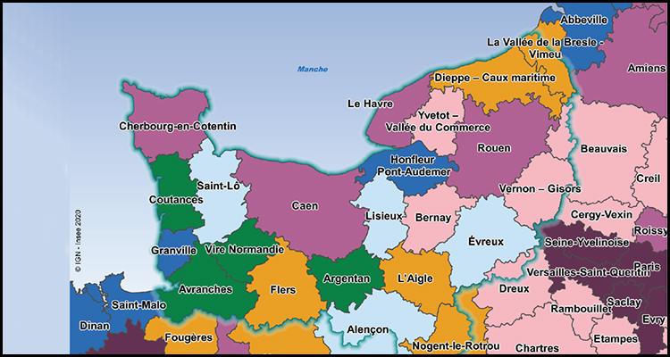 Zone d'emploi (ZE): le nouveau visage de la Normandie